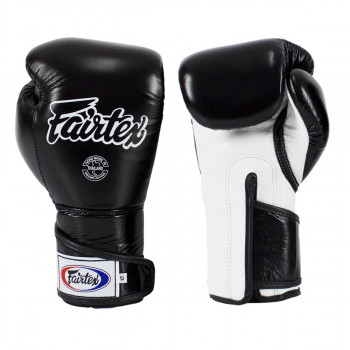 boxing gloves - Fairtex - 'BGV6' - Black/White