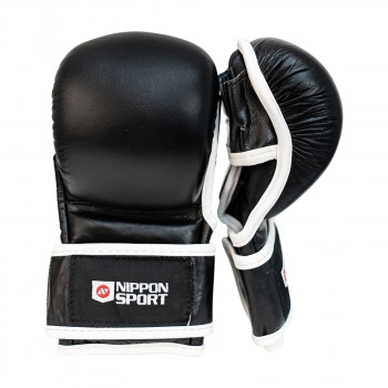 mma sparring gloves - Nippon Sport - 'Freefight Sparring' - Black