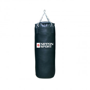boxing bag - Nippon Sport - '30kg' -  '100cm' - Black