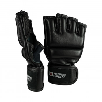 mma gloves - Nippon Sport - 'Freefight' - Black