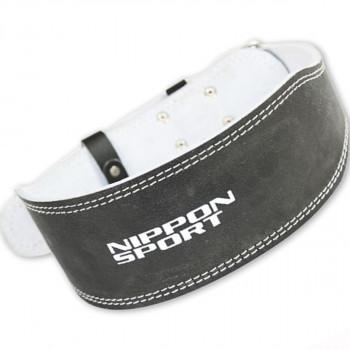 back support - Nippon Sport - Black - Leather