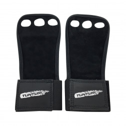 grips - Tunturi - '3-Hole' - Black - Leather