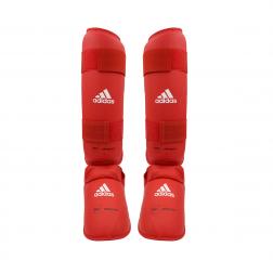 Benbeskytter m. fod - Adidas - WKF - Rød