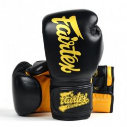 Boxing gloves - Fairtex - 'BGV 18' - Black/Gold