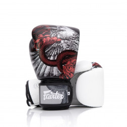 Boksehandsker - Fairtex - BGV24 - 'The Beauty of Survival' - Hvid/Sort/Rød