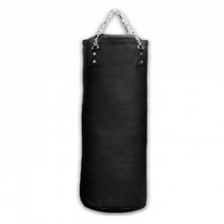 Boxing Bag With Fill - Nippon Sport - 'PRO' - Black - 34kg - 100cm