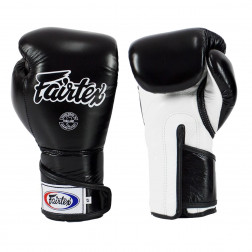 boxing gloves - Fairtex - 'BGV6' - Black/White