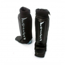 shin guard - Fairtex - 'SP6' - Black