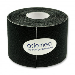 Kinesiologitape - Asiamed - 5cm x 5m - Sort