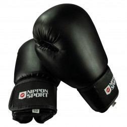 boxing gloves - Nippon Sport - 'Club' - Black