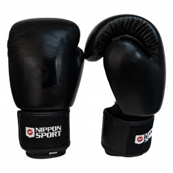 boxing gloves - Nippon Sport - 'Gauntlet' - Black