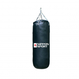 boxing bag With fill - Nippon Sport - 'Junior Club' - Black - 14kg -  70cm
