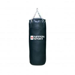 boxing bag With fill - Nippon Sport - 'Club' - Black - 30kg - 100cm