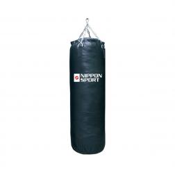 boxing bag With fill - Nippon Sport - 'Club' - Black - 34kg -  120cm