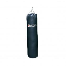 boxing bag With fill - Nippon Sport - 'Club' - Black - 40kg -  150cm