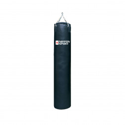 boxing bag With fill - Nippon Sport - 'Club' - Black - 44kg - 180cm