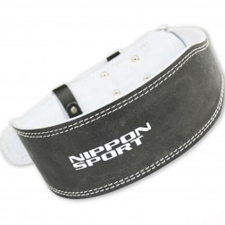back support - Nippon Sport - Black - Leather