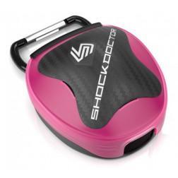 Etui til tandbeskyttere - Shock Doctor mouthguard case - pink