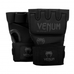 Inderhandske - Venum - Kontact Gel Glove Wraps - Sort/Sort